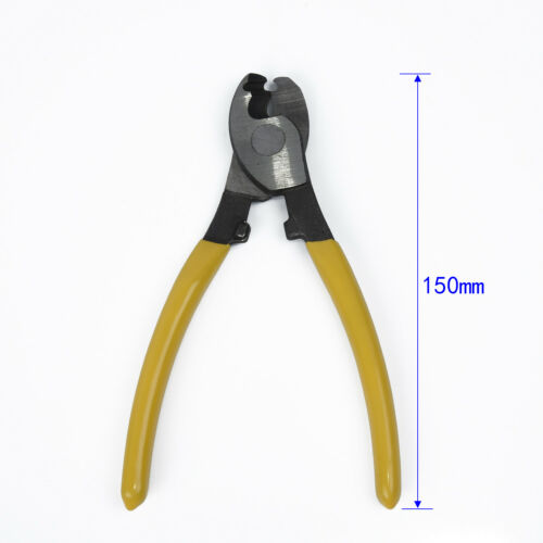 6 Inch Cable Cutter Plastic Handle Electric Wire Stripper Cutting Plier Yellow