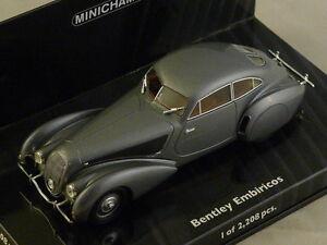 MINICHAMPS 436139820 - Bentley Embiricos 1938 argent 1/43