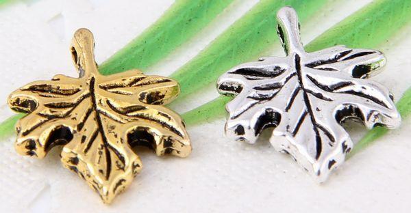 Wholesale 22/54Pcs Tibetan Silver/Gold(Lead-Free)Leaf Charms Pendants 17x14mm