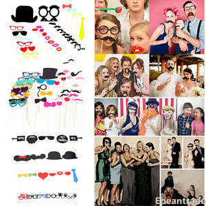 Funny Diy Photo Booth Mask Props Stick Mustache Wedding Birthday