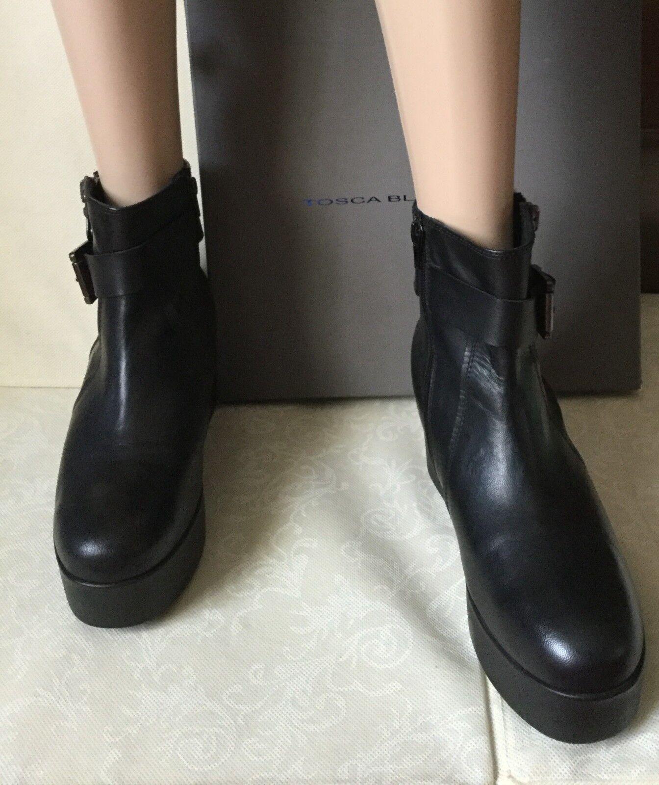 Trendy botas botas botas TOSCA azul mujer, negro Color, Talla  40, wedge  Stivaletti alla moda  en promociones de estadios