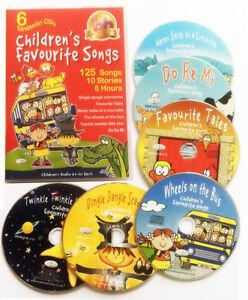 Children-039-s-Favourite-Songs-6-CDs-kids-nursery-rhymes-songs-stories-NEW