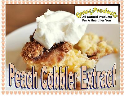 Natural Grace Products Exclusive flavor Pure Peach Cobbler Extract  Organic