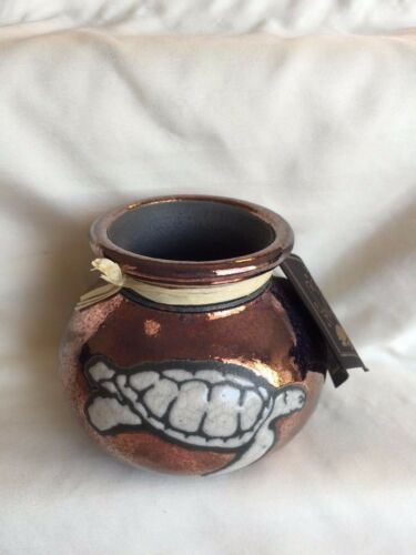 RAKU POTTERY WORKS GORGEOUS MARINE DREAM VASE OR POT WITH VARIETY OF ANIMALS
