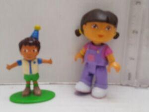 DORA-stamped-Viacom-plastic-DORA-THE-EXPLORER-figurine-Lot-of-2