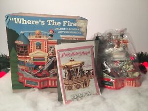 NEW-ENESCO-WHERES-THE-FIRE-DELUXE-ILLUMINATED-ACTION-MUSICAL-MICE-FIGURINE