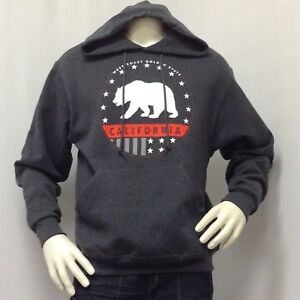 Mens-Sweat-Shirt-Jacket-Pullover-Hoodie-WEST-COAST-GOLDEN-STATE-BEAR-Tony-Hawk
