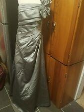 David's Bridal size 8 gray one shoulder floor length dress very pretty
