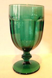 Duratuff-Green-Libbey-Drinkware-Glass-Goblet-Tea-Water-Glassware