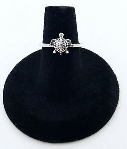 Silver-Alloy-Turtle-Ring-Size-6-5-NWOT