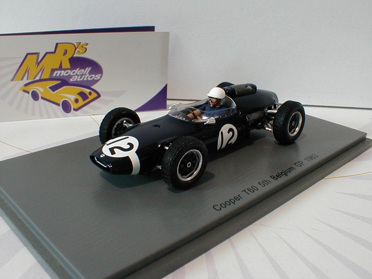 SPARK s4804-Cooper t60 Nº 12 5th Belgique GP Formule 1 1963 Jo Bonnier 1 43