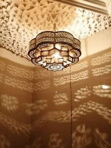 Moroccan-pendent-oriental-brass-hanging-lamp-Ceiling-light-chandelier-Marrakesh