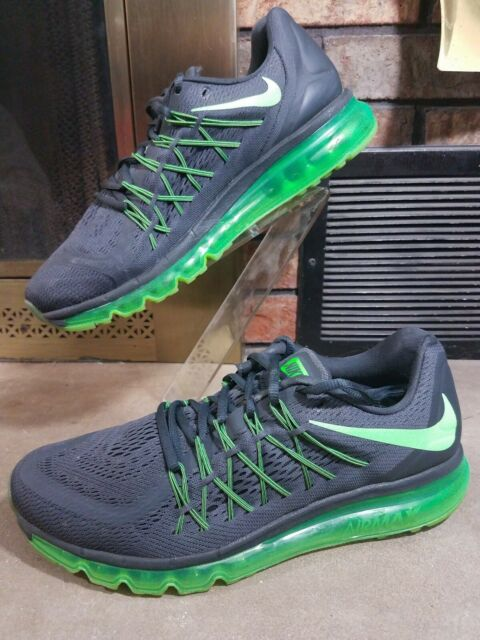 abe366bf3df9 Nike Air Max 2015 Running Shoes SNEAKERS 698902-013 Grey Green Strike Size  9.5 for sale online   eBay