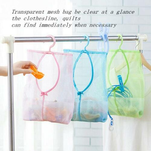 Towel Clothes Pin Bag Net Laundry Sturdy Storage Organizer Clothespin Holder H