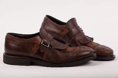 "DI MELLA NAPOLI Shoes Bicolor Leather ""Fatte a mano"" Handmade in Italy 9US - 8UK"
