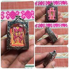 High Quality Butterfly Kruba Kissana Takrut Phra Porm Gemstones Thai Amulet