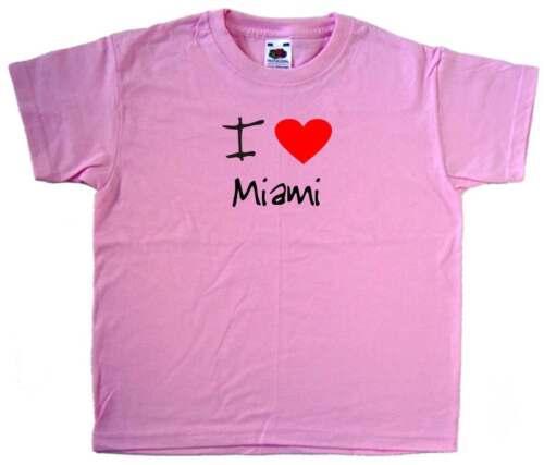 I Love Cuore Rosa MIAMI T-SHIRT Kids