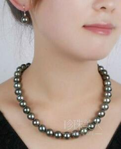 18-034-stunning-AAA-8-9-mm-Tahitian-black-green-pearl-necklace-14k-clasp