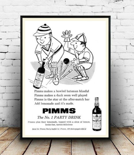 Wall art Pimms Reproduction. vintage magazine advert poster