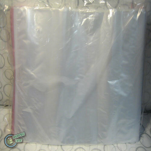 100 Zip Lock Resealable Plastic clip Seal Bags Scrapbooking 330x330mm ZipLock