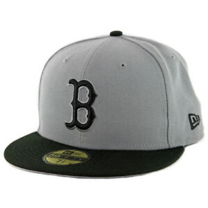 dba965400bf New Era 59Fifty Boston Red Sox Fitted Hat (Storm Grey Black Black ...