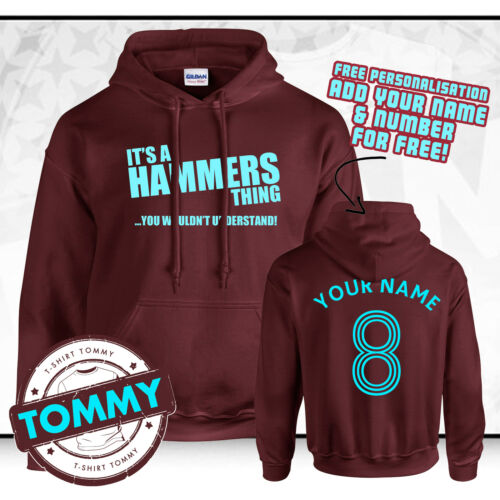 West Ham Hoodie Its a Hammers Thing COYI ?Hammers Hoody WHFC