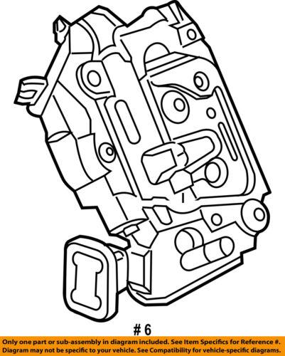 VW VOLKSWAGEN OEM 2016 Passat Rear Door-Lock Actuator Motor 5K4839015AG