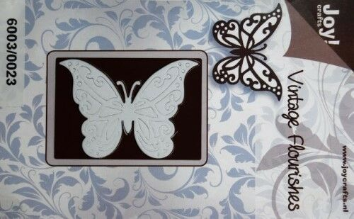 Joy Crafts Vintage Flourishes Die Cutting Stencil -Vintage Butterfly - 6003/0023