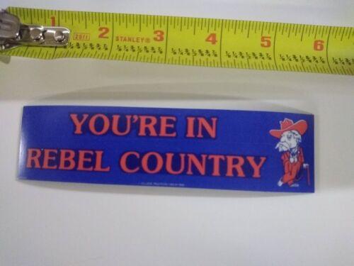 Vintage Looking  Ole Miss Rebels sticker decal  ** Refrigerator Magnet **