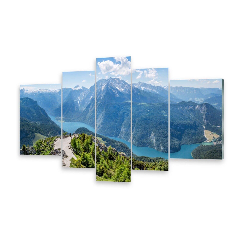 Mehrteilige Bilder Glasbilder Wandbild Bayern Alpen