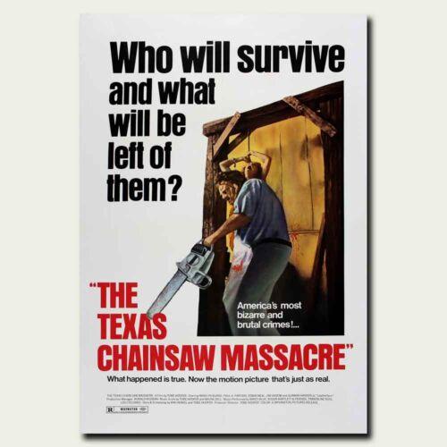 THE TEXAS CHAINSAW MASSACRE 24x36inch 1974 Horror Movie Silk Poster