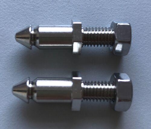 Silver Cross Wilson Coach Pram Body Apron Studs Lift dot Pins x2 Screw On