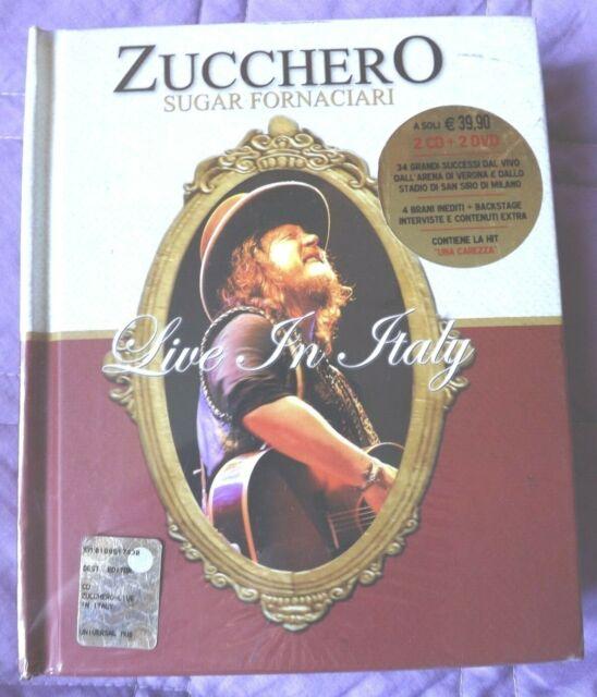 *M 2 CD + 2 DVD ZUCCHERO SUGAR FORNACIARI LIVE SAN SIRO IN ITALY EXTRA 2008 NEW