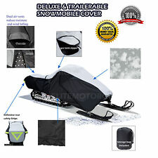 Yamaha VMAX Deluxe Trailerable Snowmobile Sled Cover Grey/Black