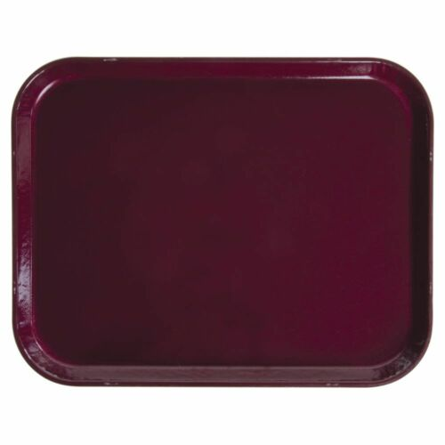 "Cambro Camtray Rectangular Burgundy Wine Fiberglass Tray 14/""L x 18/""W"