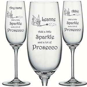 Personalised Engraved Wine Glass SPARKLE CHRISTMAS PROSECCO WINE GIFT