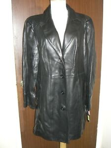 790996118 Details about New leather jacket Jones New York black lined size XL $329