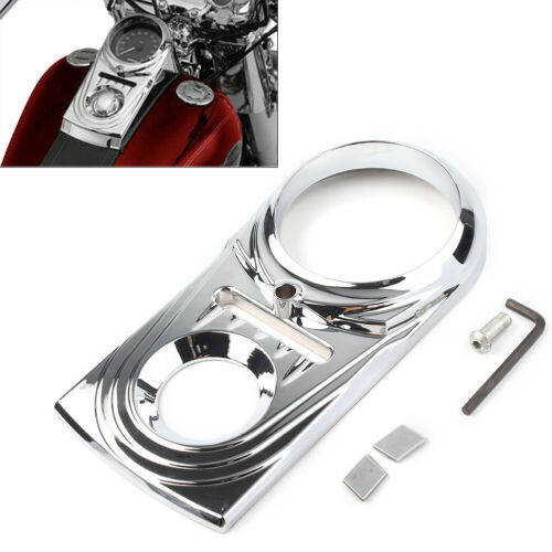 Black//Chrome Dash Panel Insert Cover For Harley Dyna Heritage Softail Fat Boy ha
