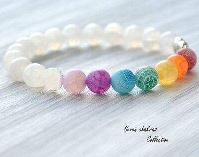 7 Chakra Healing Balance Perlen Armband Yoga Leben Energie Armband Schmuck Hi Ebay