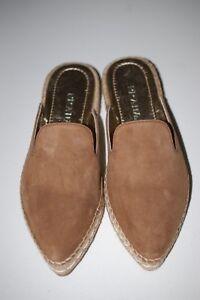 7df730cad9 Details about PRADA Tan Suede Espadrille Mule Point Slide Slipper Flat  Sandal Shoes 6 US/36 EU