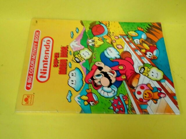 Vintage 1989 Coloring Book Golden #1207 Nintendo Super Mario Brothers-Used  For Sale Online