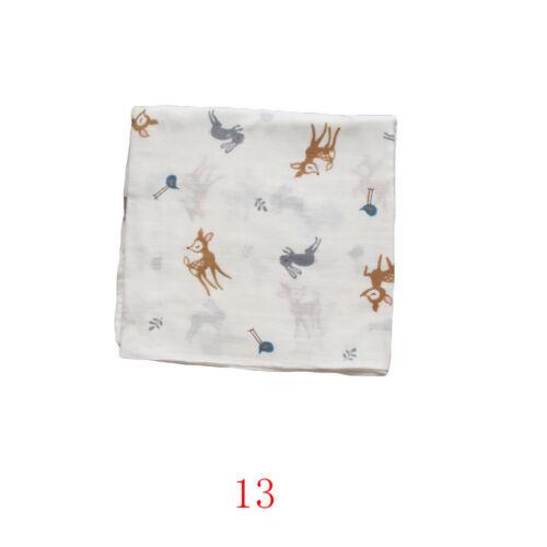 Soft Muslin Cotton Newborn Baby Infant Swaddling Blanket Swaddle Wrap Bath Towel