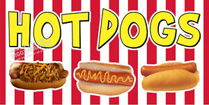 HOT-DOGS-VINYL-BANNERS-CHOOSE-YOUR-SIZE-FULL-COLOR-NEW