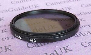 CPL-58mm-polarisierenden-Filter-fuer-Panasonic-Sigma-Samsung-Fujifilm-Nikon-Sony-Objektiv