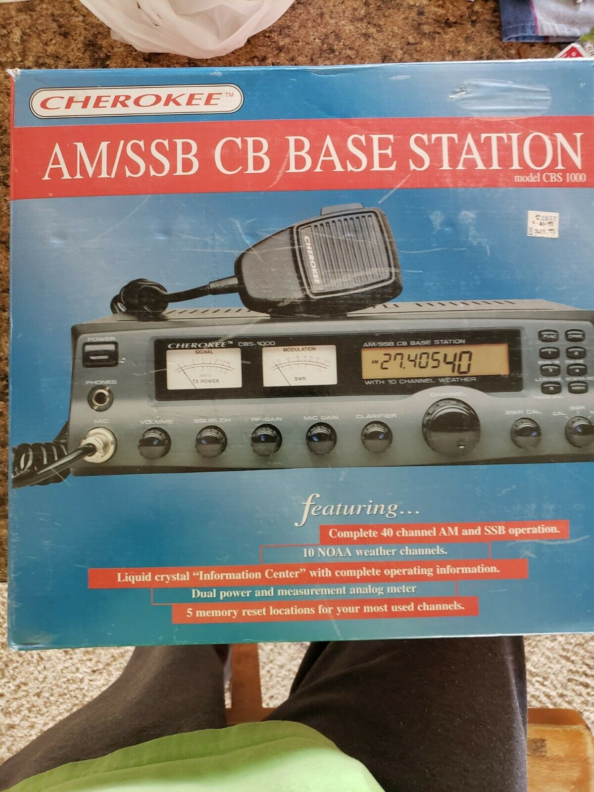 Cherokee AM/SSB 40 ch. Base Station model CBS1000. new in box. Buy it now for 325.00