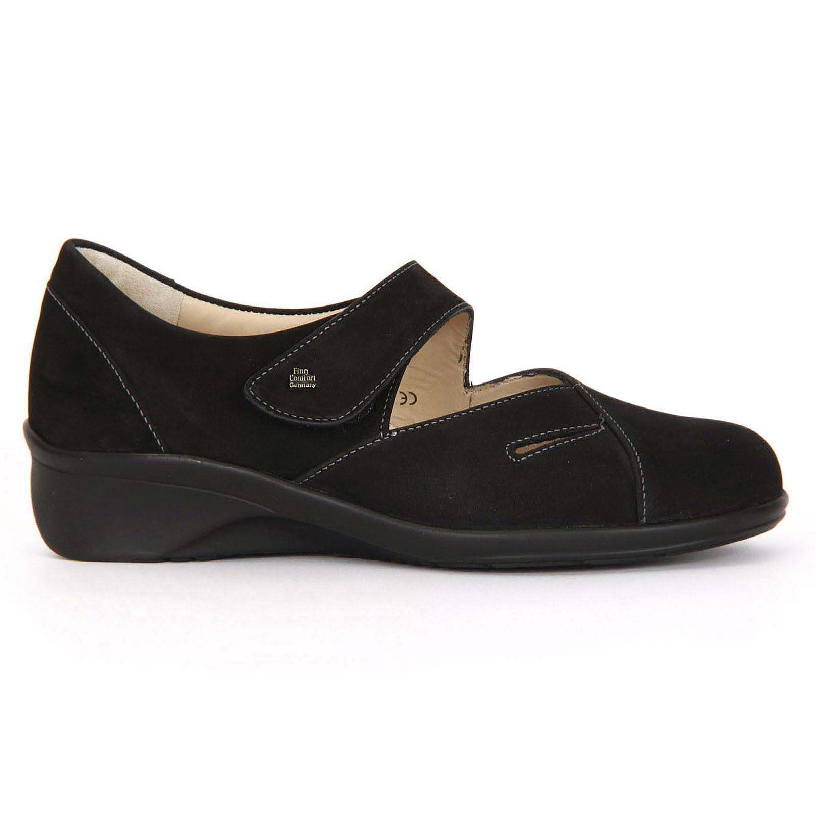 Finn Comfort Talla Aquila 3594 Negro Mujeres Mary Jane Zapatos Talla Comfort 2.5-8.5 Reino Unido Nubuck fbdfba