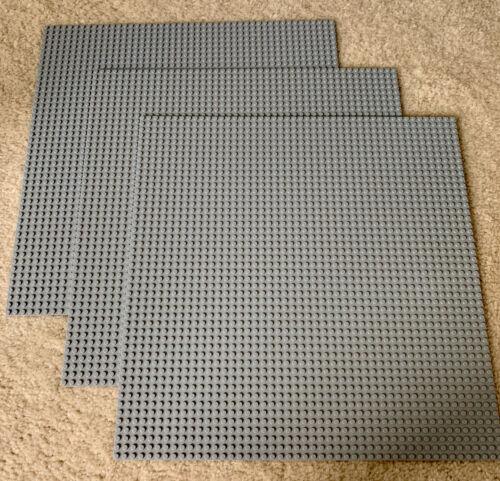 "3 Lot LEGO Mat Gray Grey Plates 15"" X 15"" Toy 48 X 48 Studs Legos Building EUC"