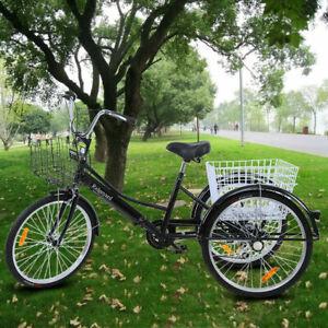 Ridgeyard-3-ruedas-24-034-Adulto-Triciclo-de-crucero-para-bicicleta-de-7-velocidade