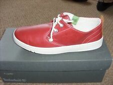 Mens Timberland Earthkeepers Hookset Ox Red leather shoes UK 6.5..Code...9345B
