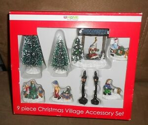 image is loading rite aid 9 pc christmas village accessory set